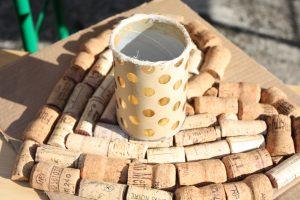 wine bottle upcycling